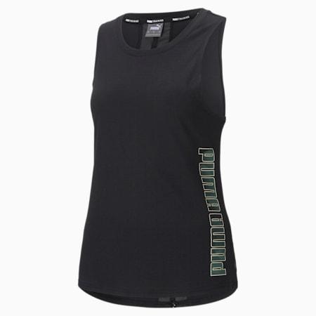 Logo Women's Training Muscle Tank, Puma Black-multi print, small-SEA