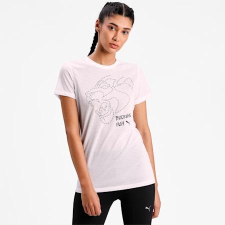 Graphic Short Sleeve Women's Training  T-shirt, Puma White, small-IND