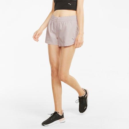 Shorts de entrenamiento de tejido plano con entrepierna de 8 cm para mujer Performance, Lotus, small