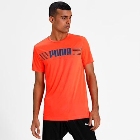PUPMA Sports 1948 Active Men's T-Shirt, Lava Blast, small-IND