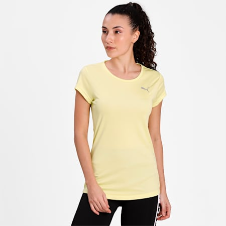PUMA Active Women's T-Shirt, Sunny Lime, small-IND