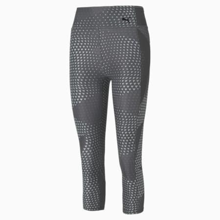 Favourite Printed 3/4 Women's Training Leggings, Puma Black-AOP, small