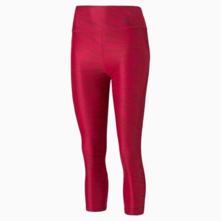 Favourite Printed 3/4 Women's Training Leggings, Persian Red-AOP, small
