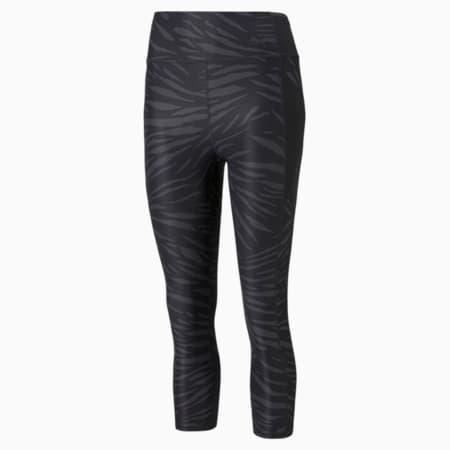 Favourite Printed 3/4 Women's Training Leggings, Puma Black-AOP Q3, small-GBR
