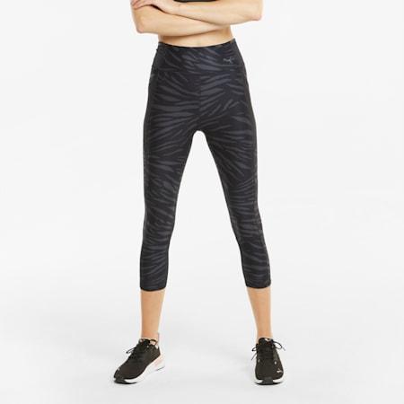 Damskie legginsy treningowe 3/4 z nadrukiem Favourite, Puma Black-AOP Q3, small