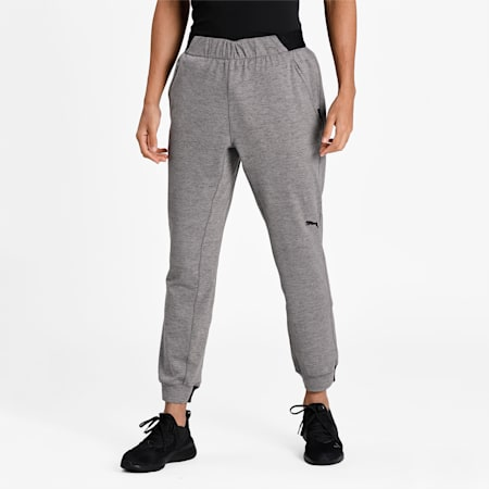 Knitted Men's Training Relaxed Joggers, Dark Gray Heather, small-IND