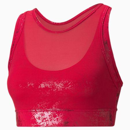 Soutien-gorge d'entraînement Forever Luxe ellaVATE, femme, Rouge persan-Imprimé aluminium mat, petit