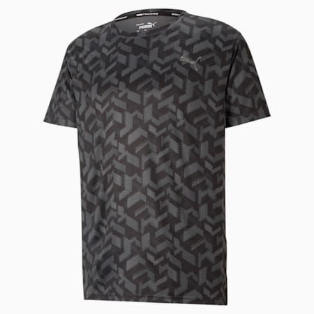 トレーニング パフォーマンス AOP 半袖 Tシャツ, Puma Black-Q1 AOP, small-JPN