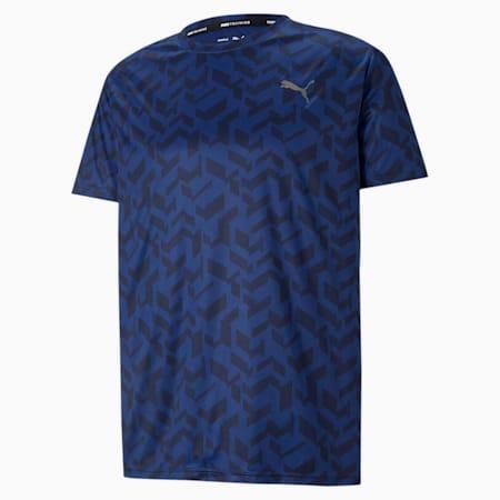 トレーニング パフォーマンス AOP 半袖 Tシャツ, Elektro Blue-Q1 AOP, small-JPN