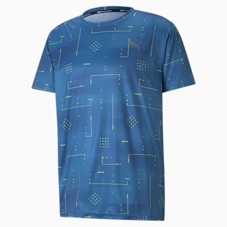 トレーニング パフォーマンス AOP 半袖 Tシャツ, Star Sapphire-Q2 AOP, small-JPN