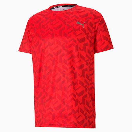 トレーニング パフォーマンス AOP 半袖 Tシャツ, Poppy Red-AOP Q1, small-JPN