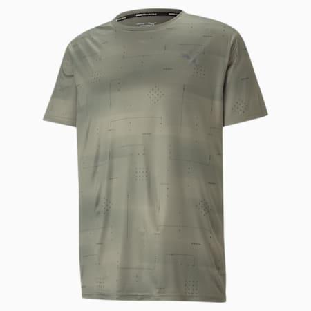トレーニング パフォーマンス AOP 半袖 Tシャツ, Vetiver-Q2 AOP, small-JPN