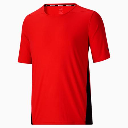 Camiseta de entrenamiento Favorite BT para hombre , Poppy Red-Puma Black, pequeño