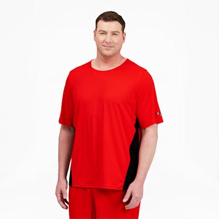 T-shirt d'entraînement préféré BT, homme, Rouge pavot-Noir Puma, petit