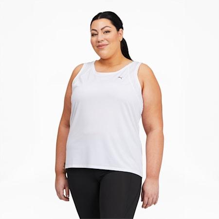 Camiseta de entrenamiento sin mangas Favoritepara mujer, Puma White, pequeño