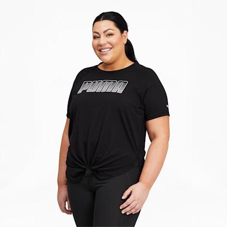 Camiseta de entrenamiento Digital con logo para mujer, Puma Black, pequeño