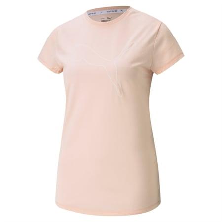 Camiseta con logoRTG Heatherpara mujer, Cloud Pink Heather, pequeño