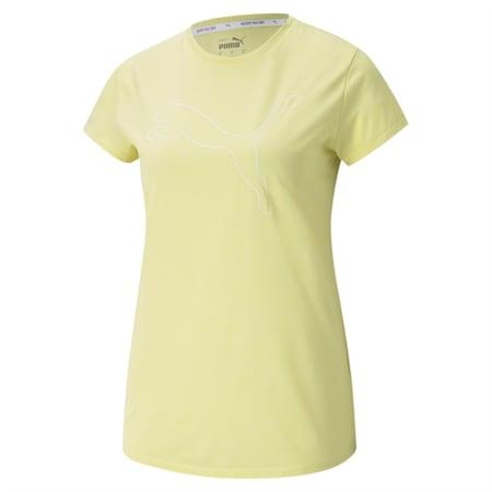 Camiseta con logoRTG Heatherpara mujer, Amarillo Pear Heather, pequeño