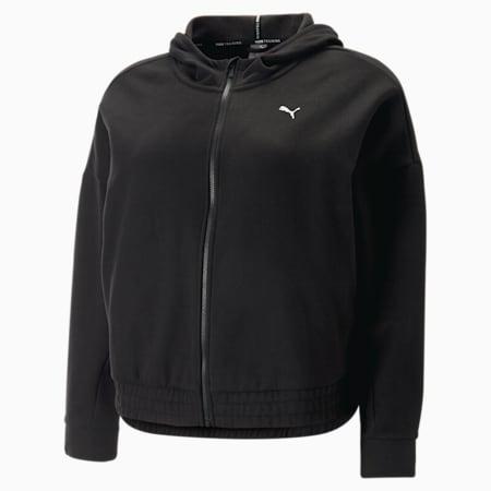 Sweat à capuche de sport à fermeture zippée intégrale Favourite femme, Puma Black, small