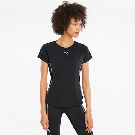 Camiseta de running de manga corta para mujer COOLADAPT, Puma Black, small
