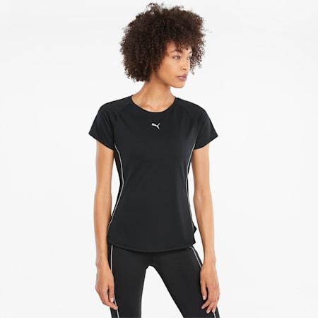 Damski T-shirt do biegania COOLADAPT z krótkim rękawem, Puma Black, small