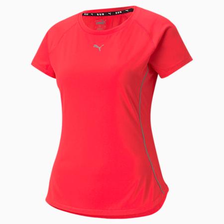 COOLADAPT Short Sleeve Women's Running Tee, Sunblaze, small
