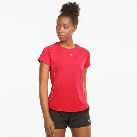 T-shirt de course à manches courtes COOLADAPT femme, Sunblaze, small