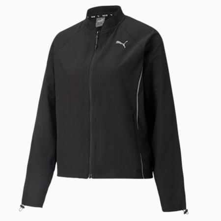 Woven Ultra Women's Running Jacket, Puma Black, small-GBR