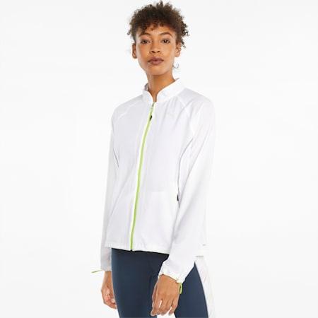 Chaqueta de running de tejido plano para mujer Ultra, Puma White, small