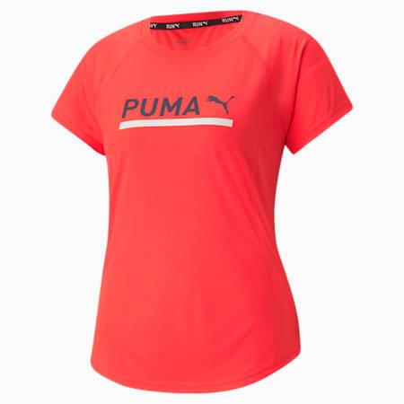 Logo Short Sleeve Women's Running Tee, Sunblaze, small-SEA