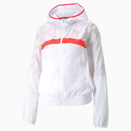 RUN Graphic Hooded Women's Running Jacket, Puma White, small-IND