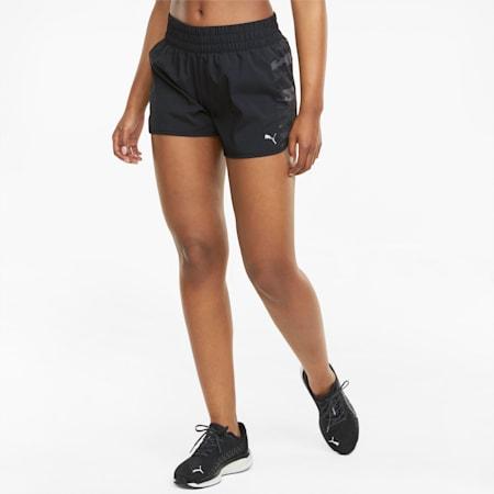 "Graphic Woven 3"" Women's Running Shorts, Puma Black, small-GBR"