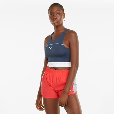 """Shorts da running in tessuto con grafica 3"""" donna, Sunblaze, small"""