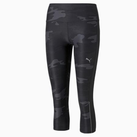 Leggings para correr estampada 3/4 para mujer, Puma Black, pequeño