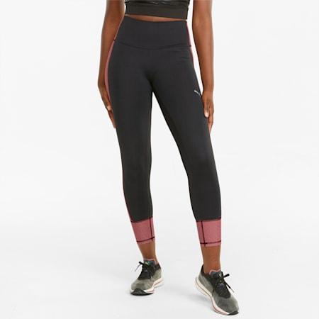 Graphic 7/8 Women's Running Leggings, Puma Black-Mauvewood, small-GBR