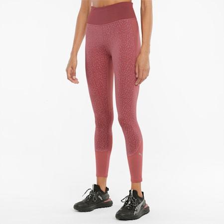 High Waist Full-Length Women's Running Leggings, Mauvewood, small-GBR