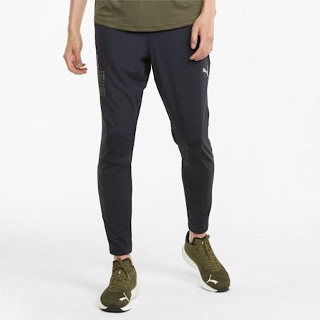 RUN COOLADAPT Men's Slim Tapered Pants, Puma Black, small-IND