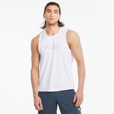 COOLADAPT 러닝 셔츠/RUN COOLadapt SINGLET, Puma White, small-KOR
