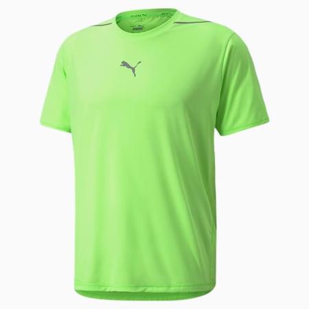 COOLADAPT Short Sleeve Men's Running Tee, Green Glare, small-GBR