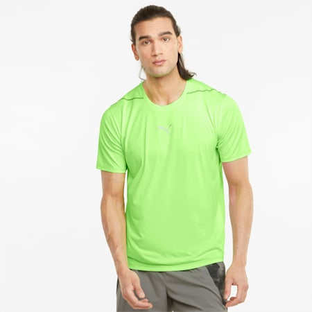 COOLADAPT Short Sleeve Men's Running Tee, Green Glare, small