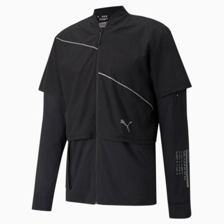 Woven Ultra Men's Running Jacket, Puma Black, small-SEA