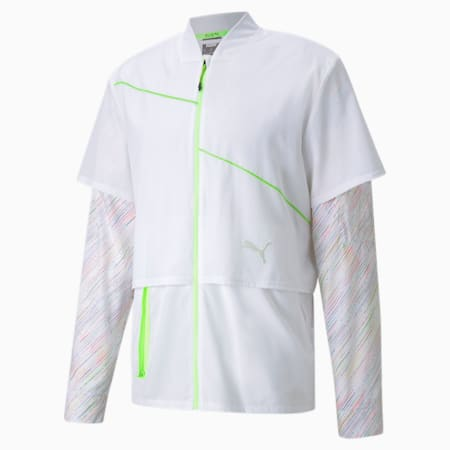 Woven Ultra Men's Running Jacket, Puma White, small-GBR