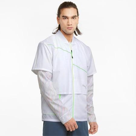 Woven Ultra Men's Running Jacket, Puma White, small-SEA