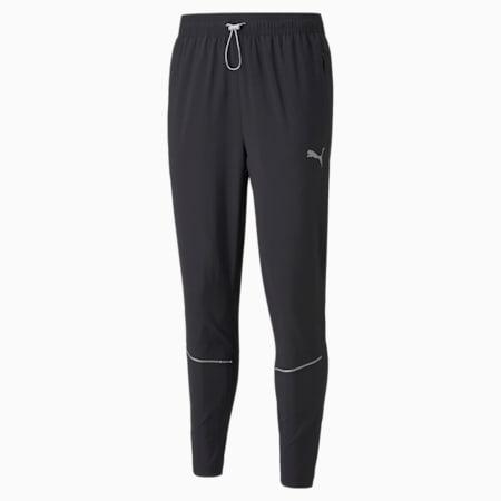 Pantalones para correr de corte estrecho para hombre, Puma Black, pequeño