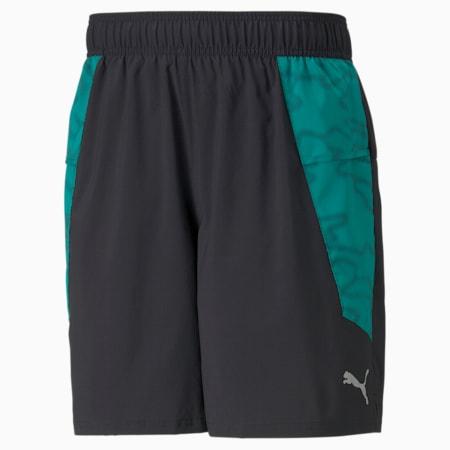 """Shorts para correr estampados de 7"""" para hombre, Puma Black-Parasailing, pequeño"""