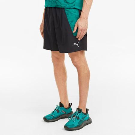 """Graphic 7"""" Men's Running Shorts, Puma Black-Parasailing, small"""