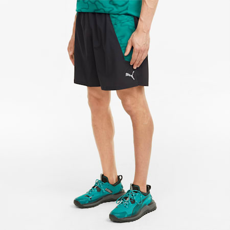"Shorts da running 7"" con grafica uomo, Puma Black-Parasailing, small"