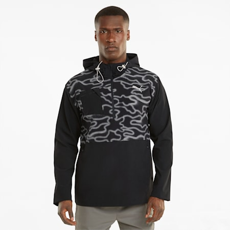 Reflective Woven Men's Running Jacket, Puma Black, small-SEA