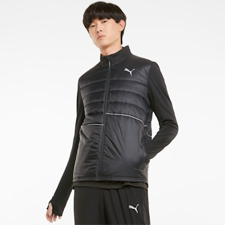 Elevated Padded Men's Running Jacket, Puma Black, small-GBR