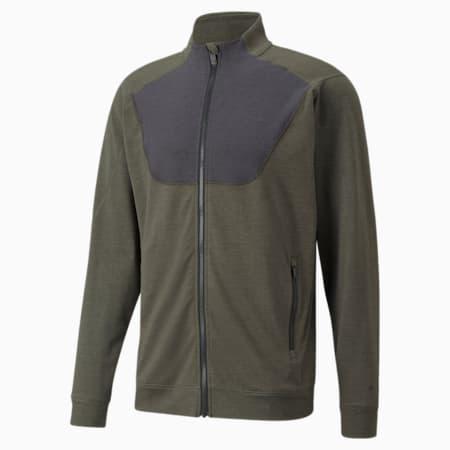 Cloudspun Full-Zip Men's Training Jacket, Grape Leaf Heather, small-IND
